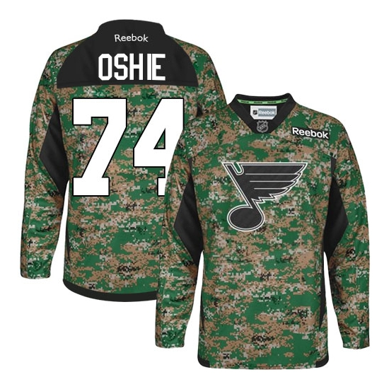 T.J Oshie St. Louis Blues Authentic Veterans Day Practice Reebok Jersey - Camo