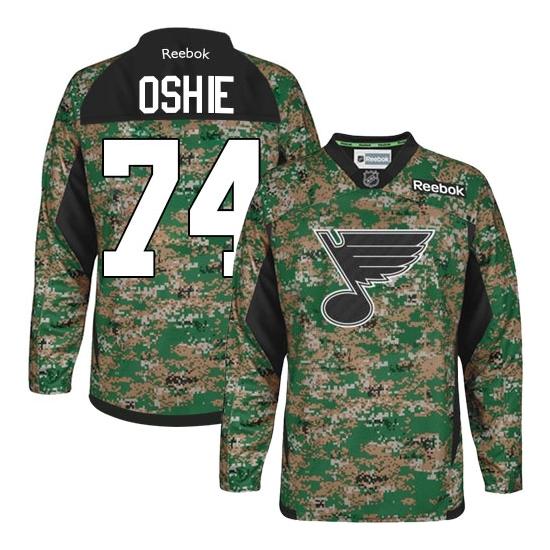 T.J Oshie St. Louis Blues Authentic Veterans Day Practice Reebok Jersey - Camo