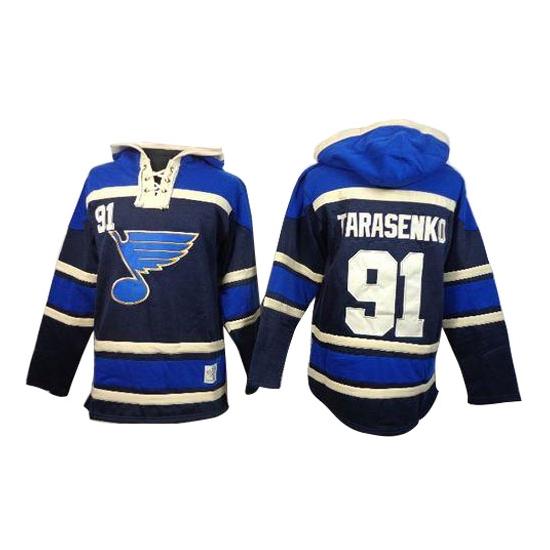 Vladimir Tarasenko St. Louis Blues Old Time Hockey Authentic Sawyer Hooded Sweatshirt Jersey - Navy Blue