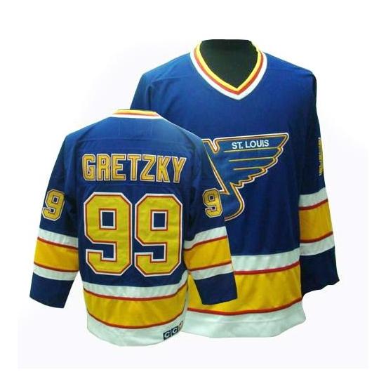 Wayne Gretzky St. Louis Blues Premier Throwback CCM Jersey - Blue