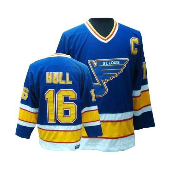 Brett Hull St. Louis Blues Authentic Throwback CCM Jersey - Blue