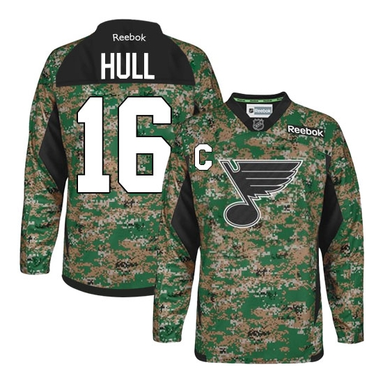 Brett Hull St. Louis Blues Authentic Veterans Day Practice Reebok Jersey - Camo