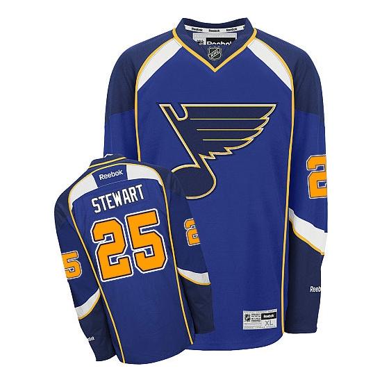 Chris Stewart St. Louis Blues Premier Home Reebok Jersey - Royal Blue
