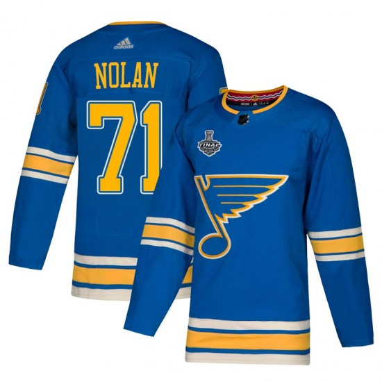 Jordan Nolan St. Louis Blues Youth Authentic Alternate 2019 Stanley Cup Final Bound Adidas Jersey - Blue