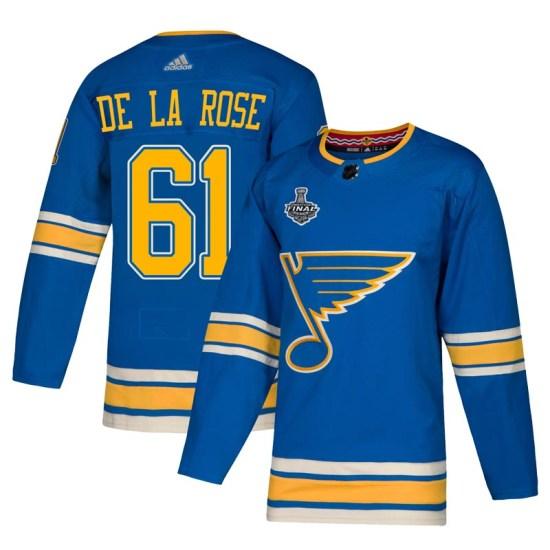 Jacob De La Rose St. Louis Blues Youth Authentic Alternate 2019 Stanley Cup Final Bound Adidas Jersey - Blue