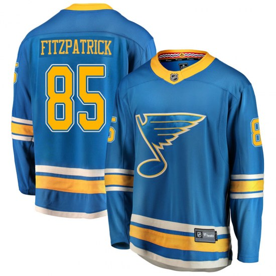 Evan Fitzpatrick St. Louis Blues Breakaway Alternate Fanatics Branded Jersey - Blue
