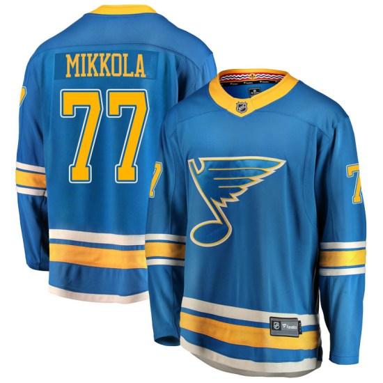 Niko Mikkola St. Louis Blues Breakaway Alternate Fanatics Branded Jersey - Blue