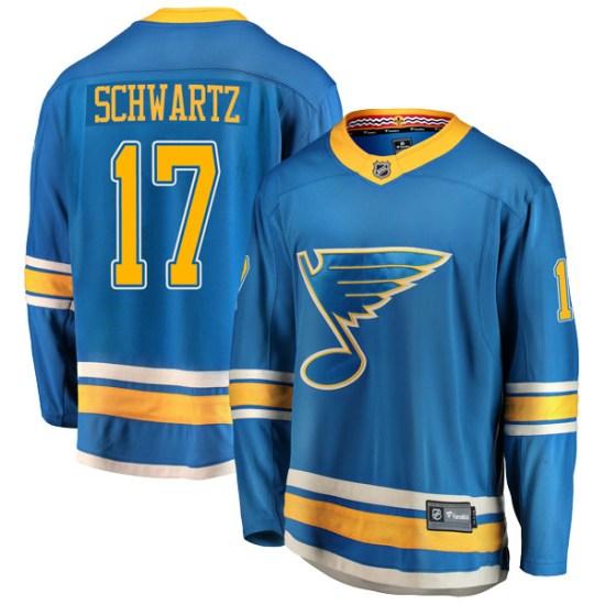 Jaden Schwartz St. Louis Blues Breakaway Alternate Fanatics Branded Jersey - Blue