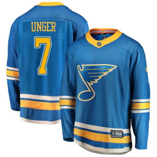 Garry Unger St. Louis Blues Breakaway Alternate Fanatics Branded Jersey - Blue