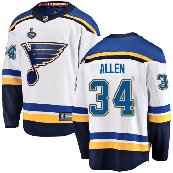 Jake Allen St. Louis Blues Breakaway Away 2019 Stanley Cup Final Bound Fanatics Branded Jersey - White
