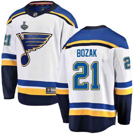 Tyler Bozak St. Louis Blues Breakaway Away 2019 Stanley Cup Final Bound Fanatics Branded Jersey - White
