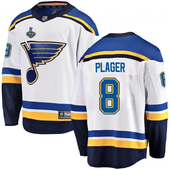 Barclay Plager St. Louis Blues Breakaway Away 2019 Stanley Cup Final Bound Fanatics Branded Jersey - White