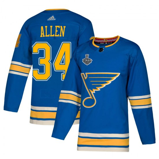 Jake Allen St. Louis Blues Authentic Alternate 2019 Stanley Cup Final Bound Adidas Jersey - Blue