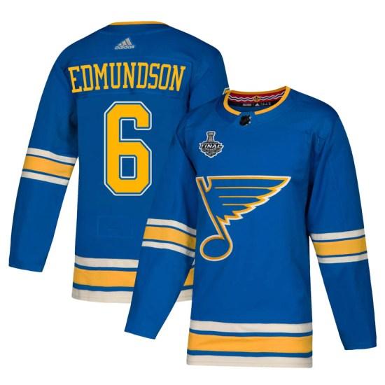 Joel Edmundson St. Louis Blues Authentic Alternate 2019 Stanley Cup Final Bound Adidas Jersey - Blue