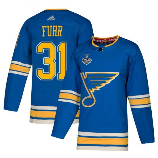 Grant Fuhr St. Louis Blues Authentic Alternate 2019 Stanley Cup Final Bound Adidas Jersey - Blue