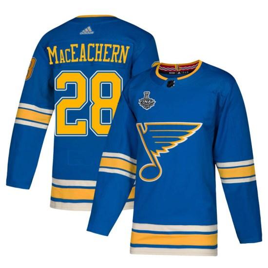 MacKenzie MacEachern St. Louis Blues Authentic Mackenzie MacEachern Alternate 2019 Stanley Cup Final Bound Adidas Jersey - Blue