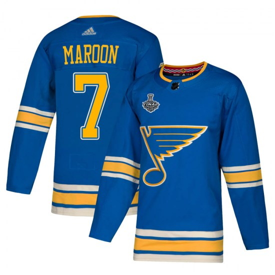 Patrick Maroon St. Louis Blues Authentic Alternate 2019 Stanley Cup Final Bound Adidas Jersey - Blue