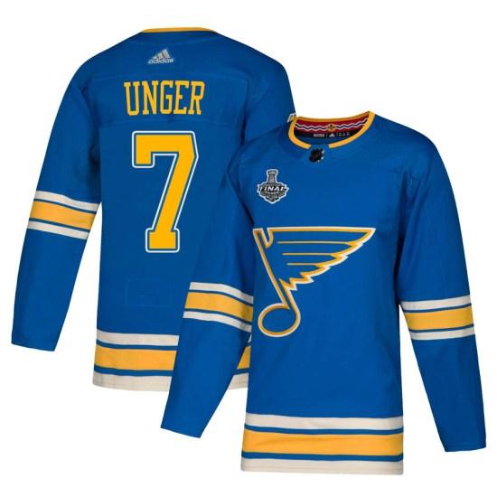 Garry Unger St. Louis Blues Authentic Alternate 2019 Stanley Cup Final Bound Adidas Jersey - Blue