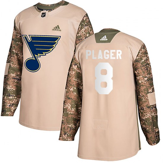 Barclay Plager St. Louis Blues Authentic Veterans Day Practice Adidas Jersey - Camo