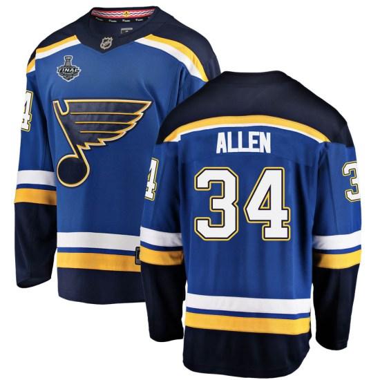 Jake Allen St. Louis Blues Breakaway Home 2019 Stanley Cup Final Bound Fanatics Branded Jersey - Blue