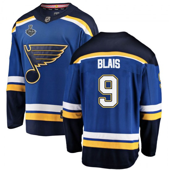 Sammy Blais St. Louis Blues Breakaway Home 2019 Stanley Cup Final Bound Fanatics Branded Jersey - Blue