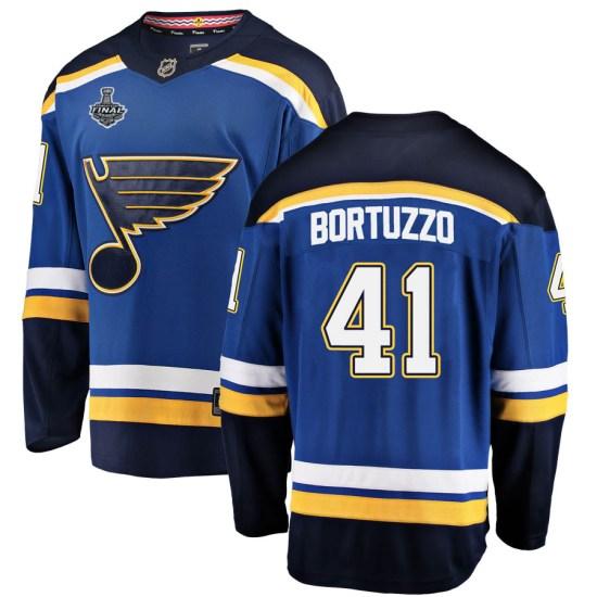 Robert Bortuzzo St. Louis Blues Breakaway Home 2019 Stanley Cup Final Bound Fanatics Branded Jersey - Blue