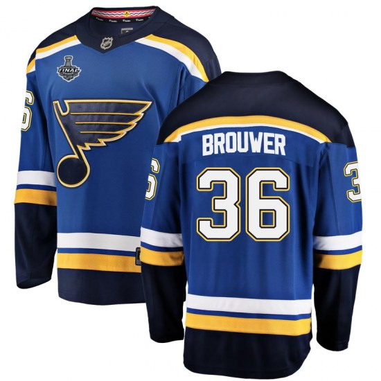 Troy Brouwer St. Louis Blues Breakaway Home 2019 Stanley Cup Final Bound Fanatics Branded Jersey - Blue