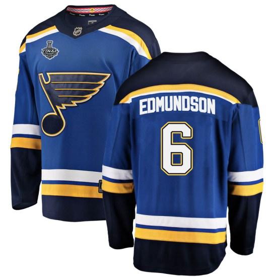 Joel Edmundson St. Louis Blues Breakaway Home 2019 Stanley Cup Final Bound Fanatics Branded Jersey - Blue