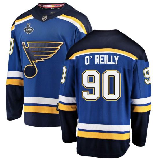 Ryan O'Reilly St. Louis Blues Breakaway Home 2019 Stanley Cup Final Bound Fanatics Branded Jersey - Blue