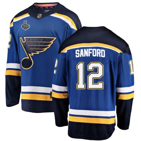 Zach Sanford St. Louis Blues Breakaway Home 2019 Stanley Cup Final Bound Fanatics Branded Jersey - Blue