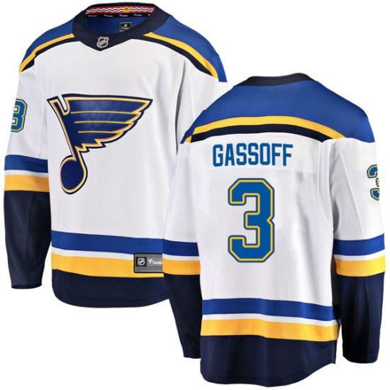 Bob Gassoff St. Louis Blues Breakaway Away Fanatics Branded Jersey - White