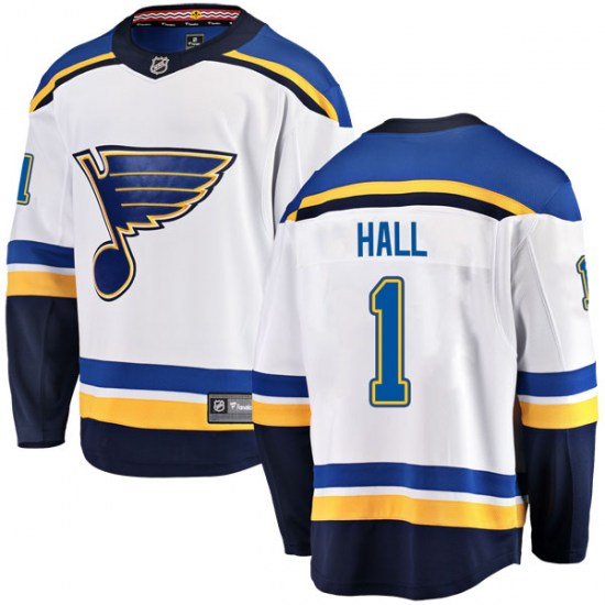Glenn Hall St. Louis Blues Breakaway Away Fanatics Branded Jersey - White