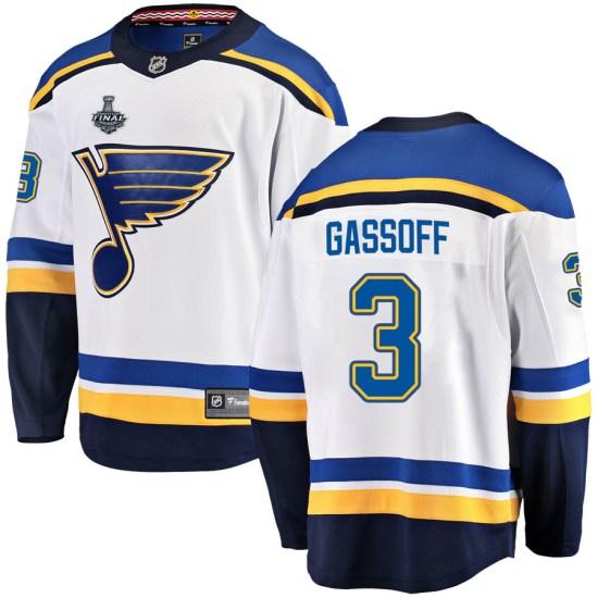 Bob Gassoff St. Louis Blues Youth Breakaway Away 2019 Stanley Cup Final Bound Fanatics Branded Jersey - White