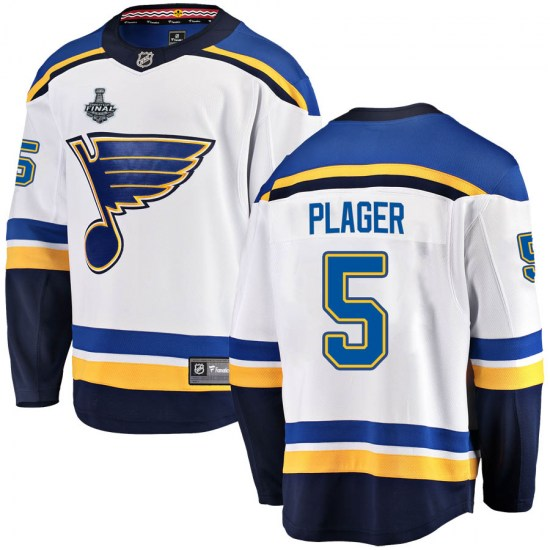 Bob Plager St. Louis Blues Youth Breakaway Away 2019 Stanley Cup Final Bound Fanatics Branded Jersey - White