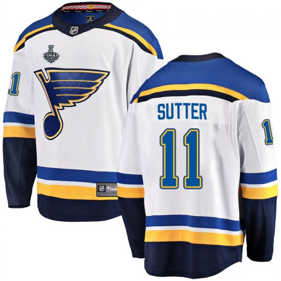 Brian Sutter St. Louis Blues Youth Breakaway Away 2019 Stanley Cup Final Bound Fanatics Branded Jersey - White