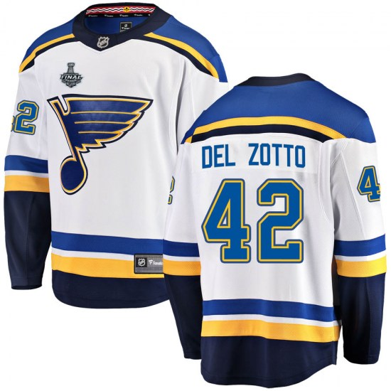 Michael Del Zotto St. Louis Blues Youth Breakaway Away 2019 Stanley Cup Final Bound Fanatics Branded Jersey - White