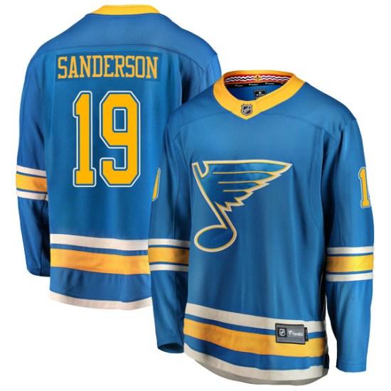 Derek Sanderson St. Louis Blues Youth Breakaway Alternate Fanatics Branded Jersey - Blue