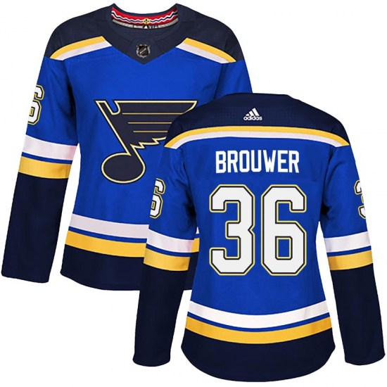 Troy Brouwer St. Louis Blues Women's Authentic Home Adidas Jersey - Blue