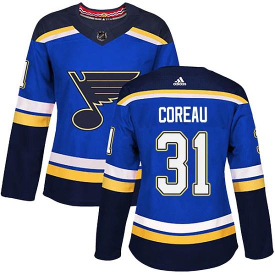 Jared Coreau St. Louis Blues Women's Authentic Home Adidas Jersey - Blue