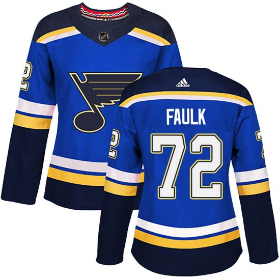 Justin Faulk St. Louis Blues Women's Authentic Home Adidas Jersey - Blue