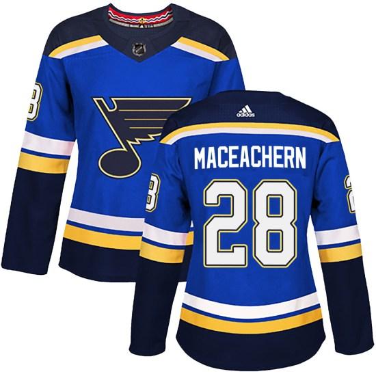 MacKenzie MacEachern St. Louis Blues Women's Authentic Mackenzie MacEachern Home Adidas Jersey - Blue