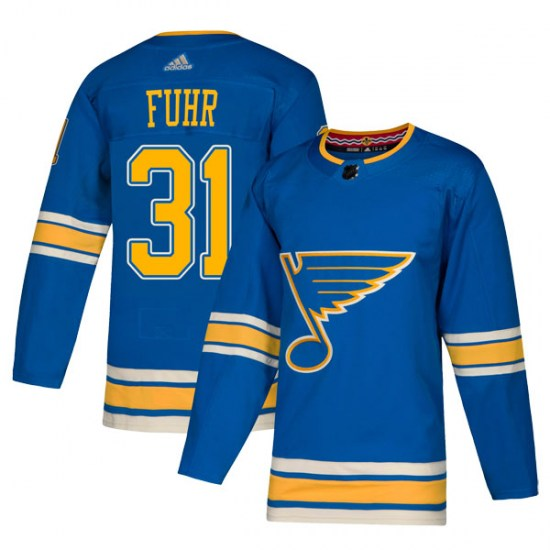 Grant Fuhr St. Louis Blues Authentic Alternate Adidas Jersey - Blue