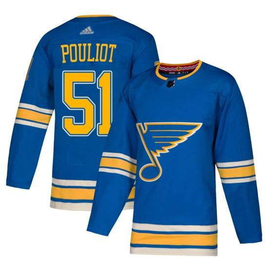 Derrick Pouliot St. Louis Blues Authentic Alternate Adidas Jersey - Blue