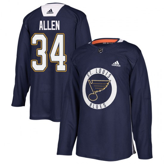 Jake Allen St. Louis Blues Youth Authentic Practice Adidas Jersey - Blue