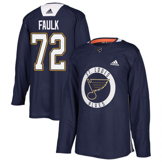 Justin Faulk St. Louis Blues Youth Authentic Practice Adidas Jersey - Blue