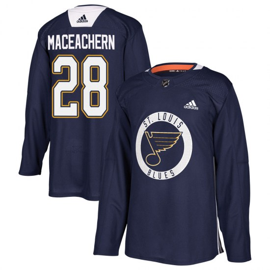 MacKenzie MacEachern St. Louis Blues Youth Authentic Mackenzie MacEachern Practice Adidas Jersey - Blue