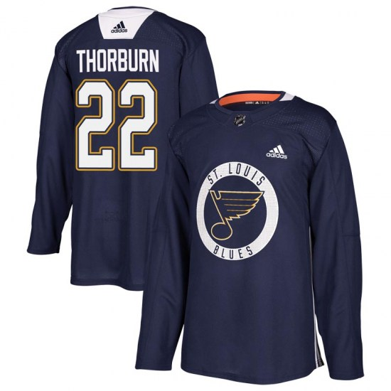 Chris Thorburn St. Louis Blues Youth Authentic Practice Adidas Jersey - Blue
