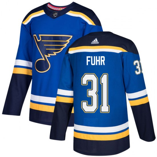 Grant Fuhr St. Louis Blues Authentic Home Adidas Jersey - Blue