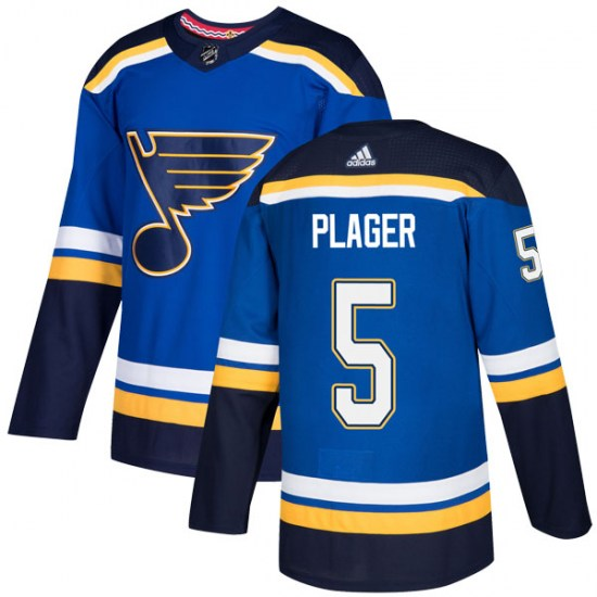Bob Plager St. Louis Blues Authentic Home Adidas Jersey - Blue