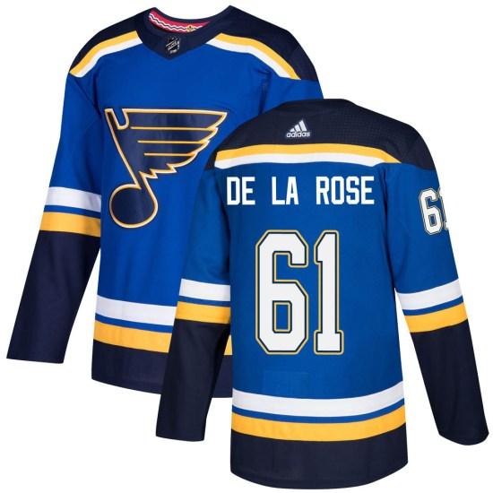 Jacob De La Rose St. Louis Blues Authentic Home Adidas Jersey - Blue